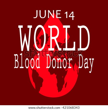 World blood donor day isolated red - stock photo
