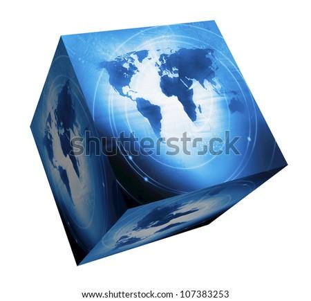 World Business Background - stock photo