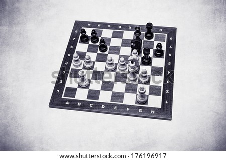 World Chess Champions - Max Euwe - Silver texture. End position of the 30th game Euwe - Alekhine, 1935. Euwe became the fifth Undisputed World Chess Champion. - stock photo