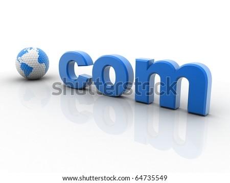 World .com isolated on white background - stock photo