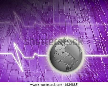 world communication background - stock photo