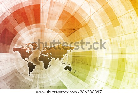 World Community as a Technology Concept Art - stock photo