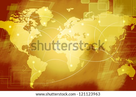 World Connection - stock photo