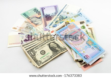 World Currencies - stock photo