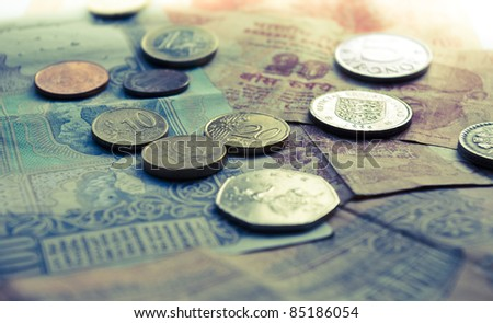 World Currencies - Asia and Europe - stock photo