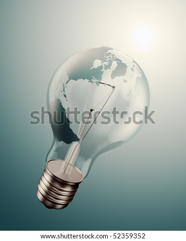 World energy issues concept illustration - stock photo