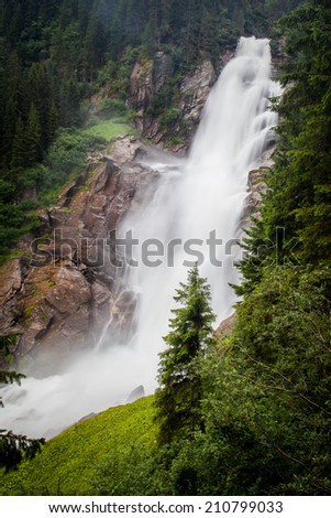 World famous Krimml Watterfalls in Austria - stock photo