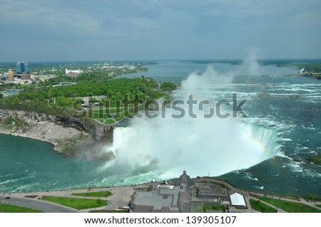 World famous Niagara Falls - stock photo