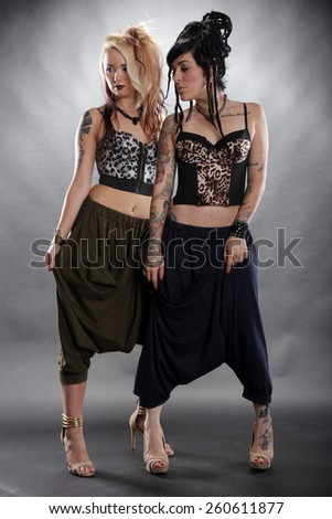 World fashion with a punk touch - stock photo