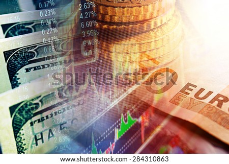 World finance system. Finance concept.  - stock photo
