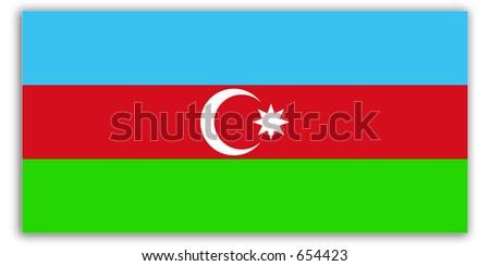 World Flag - Azerbaijan - stock photo