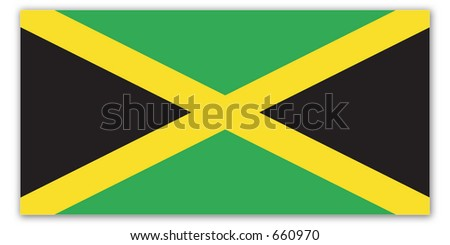 World Flag - jamaica - stock photo