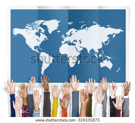 World Global Business Cartography Globalization International Concept - stock photo