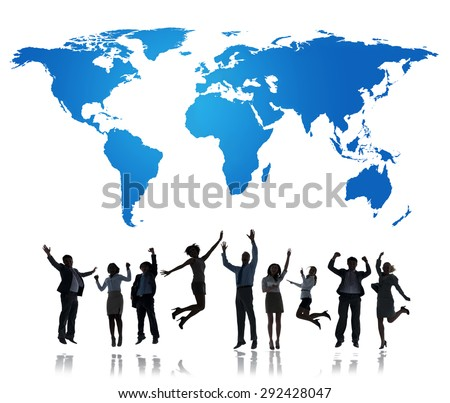 World Global Connect People Togetherness Unity International Concept - stock photo