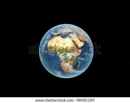 world globe - stock photo