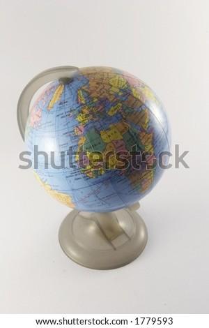 World globe indicating Europe and Africa (2 of 3) - stock photo