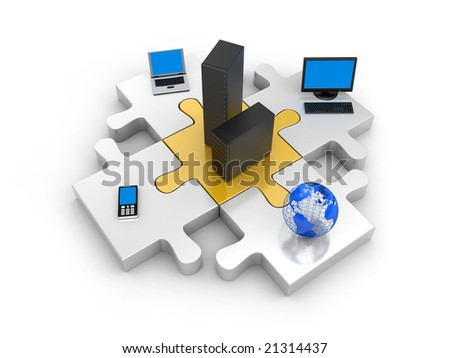 World information technology - stock photo