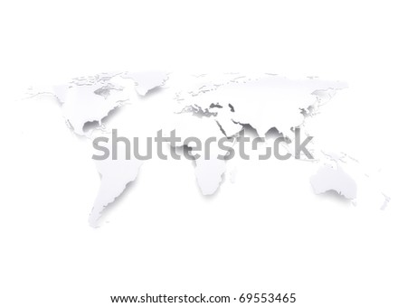 World map bright light - stock photo