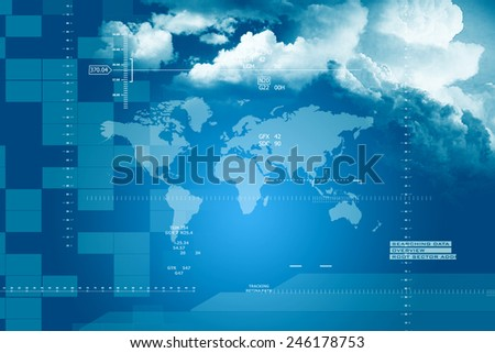 World Map Business Background - stock photo