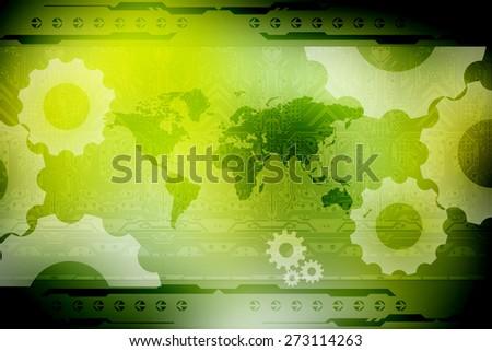 World Map Business Background - stock photo