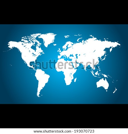 World map - illustration - stock photo
