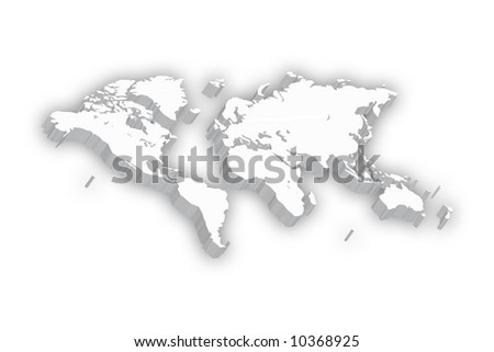 World Map in 3D - stock photo