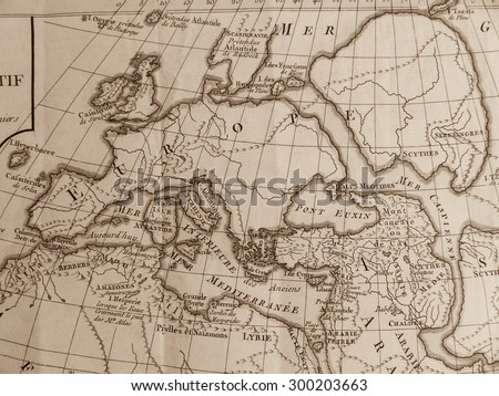 World map of Antique - stock photo