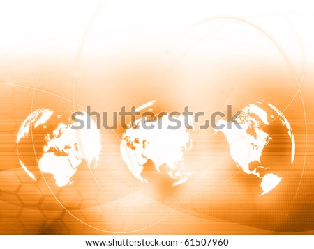world map technology style - perfect background - stock photo