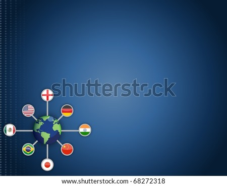 World networking communication background concept - stock photo