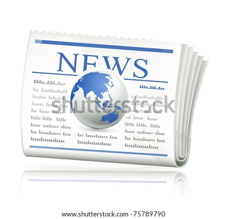 World news, bitmap copy - stock photo