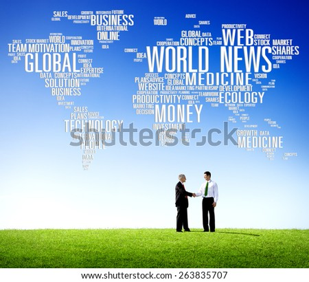 World News Globalization Advertising Event Media Information Concept - stock photo