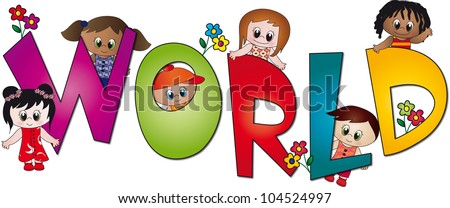 world of children - stock photo