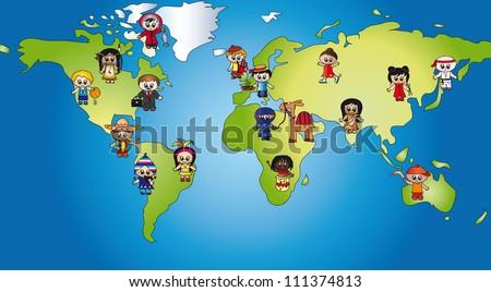 world of children - stock photo