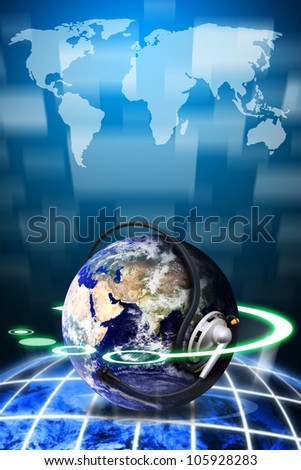World of communication : Elements of this image furnished by NASA - stock photo