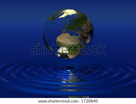 World over water - stock photo