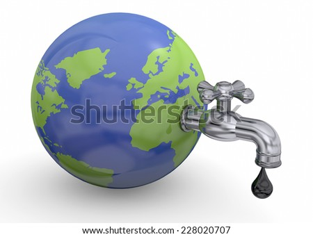 World Resources Concept - 3D - stock photo