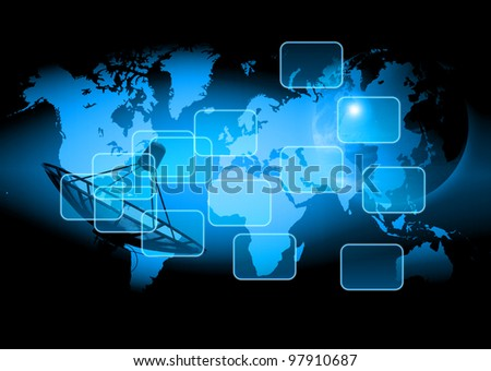 world technology background - stock photo