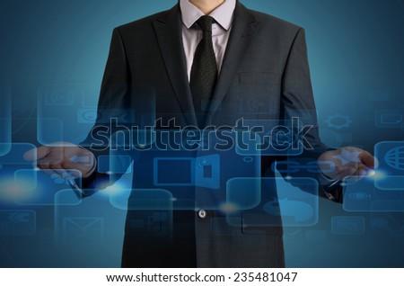 World technology communication concept.  - stock photo