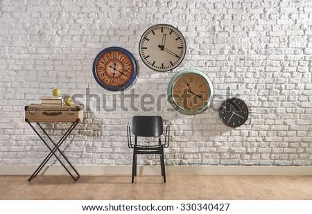world time interior concept - stock photo