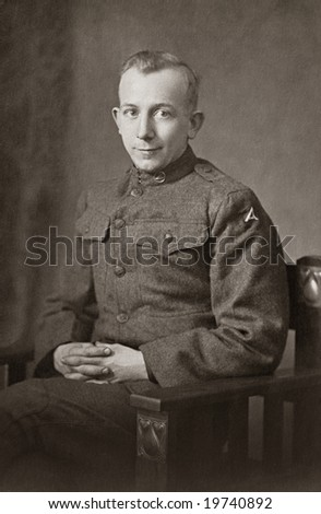 World War I Army Soldier - stock photo