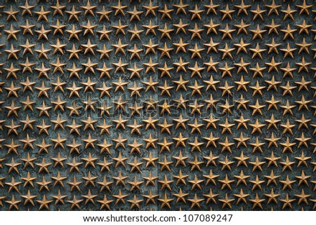 World War 2 Memorial Stars - stock photo