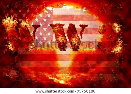 World war 3 nuclear background, a sensitive world issue, useful for various icon, banner, background, global economy conceptual design. - stock photo