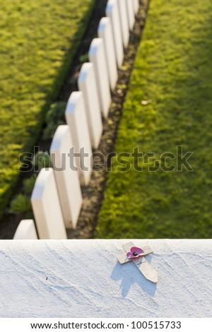 World war one cemetry - stock photo