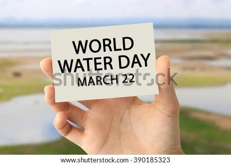 World Water Day - stock photo