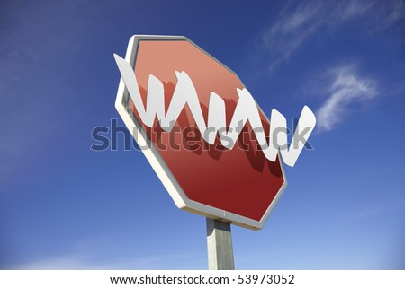 World Wide Web road sign - stock photo