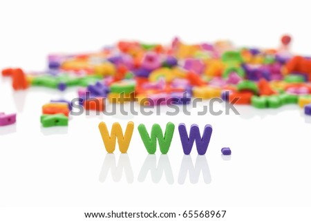 world wide web with plastic letters - stock photo