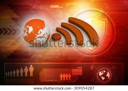 World wifi concept - stock photo