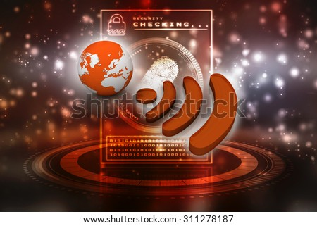 World wifi concept isolated on white background - stock photo