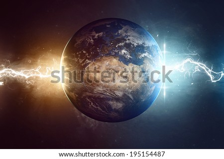 Worlds End (Elements of this image furnished by NASA) - stock photo