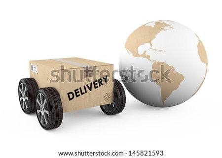 worldwide delivery concept - stock photo